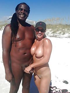 Interracial public beaches sex, alexis texas nude pictures